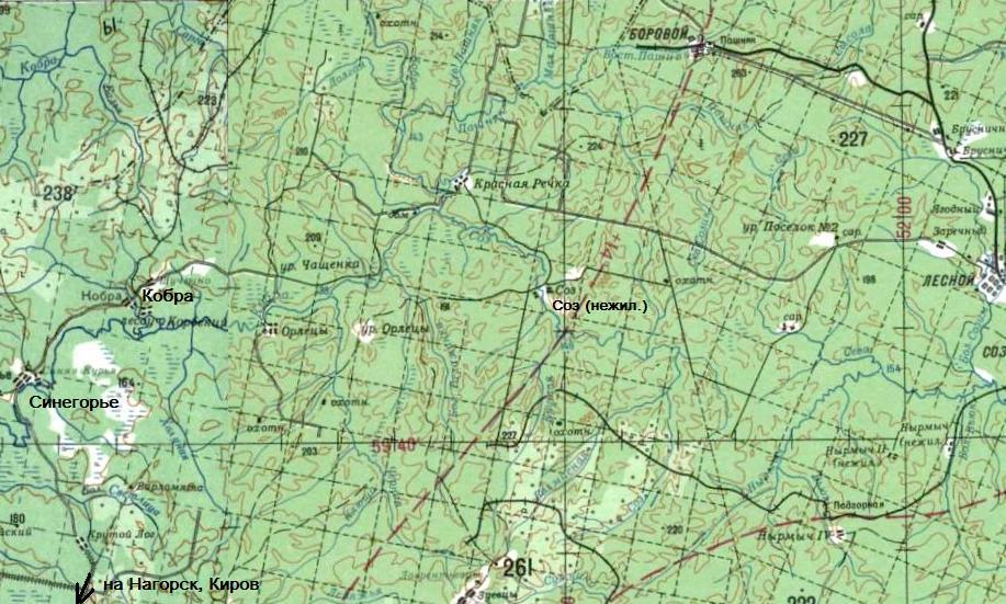 (карта масштаба 1:500 000,